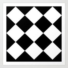 HARLEQUIN BLACK AND WHITE Art Print