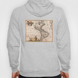 1658 Map of North America and South America (with 2015 enhancements) Hoody