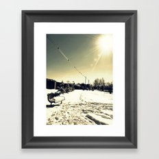 Snow Framed Art Print