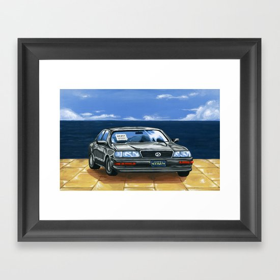 Street Fighter II Bonus Stage Car Framed Art Print