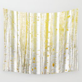 Gold Birch Forest Wall Tapestry
