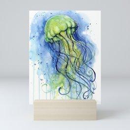 Jellyfish Watercolor Beautiful Sea Creatures Mini Art Print