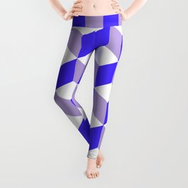 Diamond Repeating Pattern In Nebulas Blue and Grey Leggings