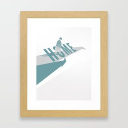 Home (Blue) Framed Art Print