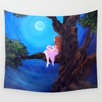 dreamer Wall Tapestries featuring Dreamer by Laura Miller