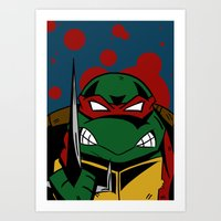 ninja turtle Art Prints featuring Ninja Turtle by Mirko Martorello