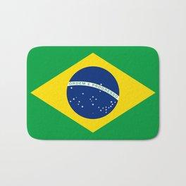 Brazilian National flag Authentic version (color & scale) Bath Mat
