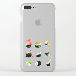 Sushi Dragons Clear iPhone Case