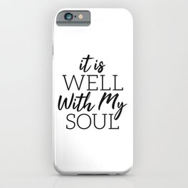 Fear Is A LIAR Inspirational Christian quote iPhone Case