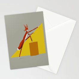 Fox is leaving Stationery Cards