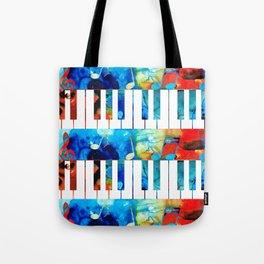 Colorful Piano Art by Sharon Cummings Tote Bag