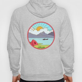Mountains Landscape Hiking Camping Design Hoody