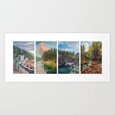 Black Hills Four Seasons Art Print