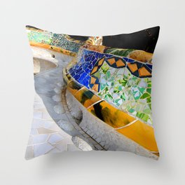 Gaudi Series - Parc Güell No. 1 Throw Pillow