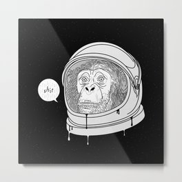 One Small Step, One Giant Ape Metal Print