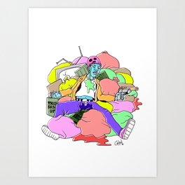 the end of lamont freemon Art Print