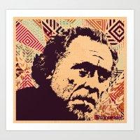 bukowski Art Prints featuring Bukowski by f_e_l_i_x_x