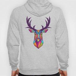 Deer | Geometric Colorful Low Poly Animal Set Hoody