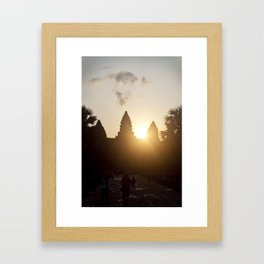 Angkor Wat sunrise Framed Art Print
