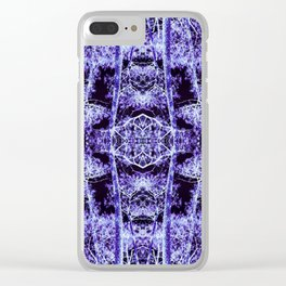 Neon Mirrored Trees 12 Clear iPhone Case