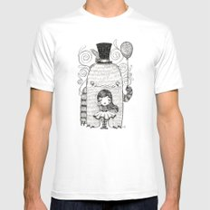 My Monster Friend MEDIUM White Mens Fitted Tee