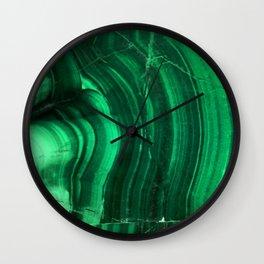 Malachite Texture Wall Clock