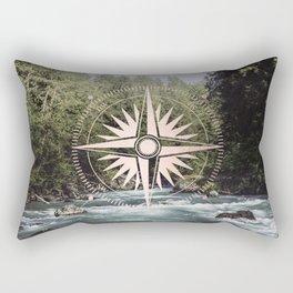 Rose Gold River Adventure Rectangular Pillow