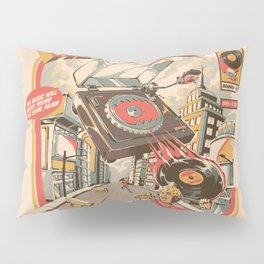 Retro Soundzilla Pillow Sham