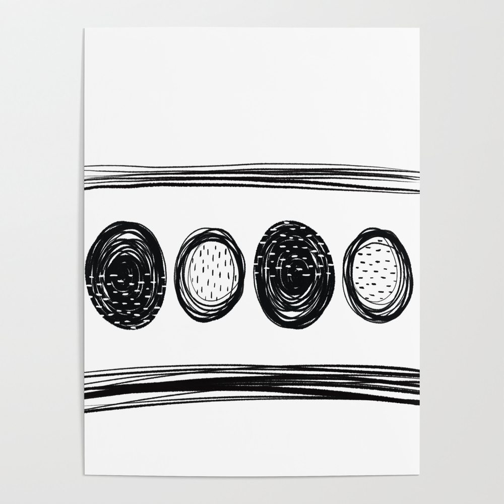 Black White One Poster by Karapeters POS9062757