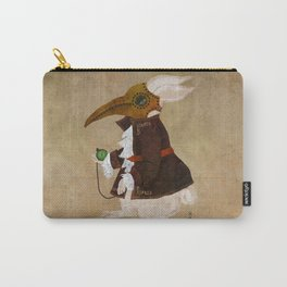'Postapocalyptic' style White Rabbit (Alice in Wonderland) Carry-All Pouch
