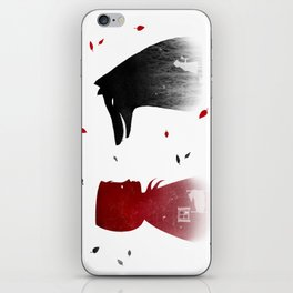 Red and The Wolf iPhone Skin