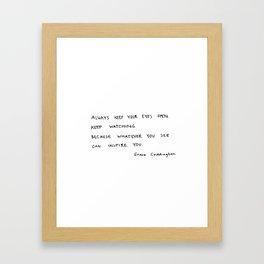 Open eyes Framed Art Print