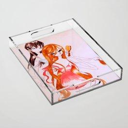 Ribbon Acrylic Tray