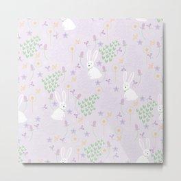 Rabbit Violet Metal Print