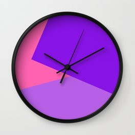 Pink Ombre Shapes Wall Clock