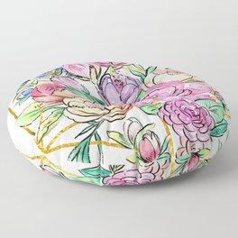 Floral Geometry Floor Pillow