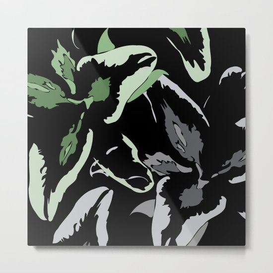 FLORAL ABSTRACTION Metal Print