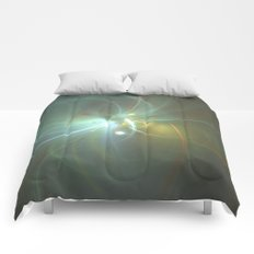 Holiday Glow Fractal Comforters