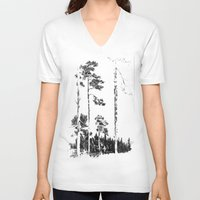 birch V-neck T-shirts featuring Birch  by Kelly Baskin