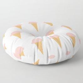 Strawberry Ice-creams Floor Pillow