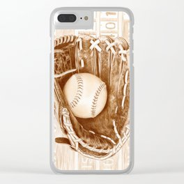 Softball Clear iPhone Case