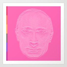 Pink Putin Art Print