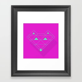 Linear Fox Framed Art Print