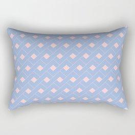 Serenity and Rose Quartz Geometric Rectangular Pillow