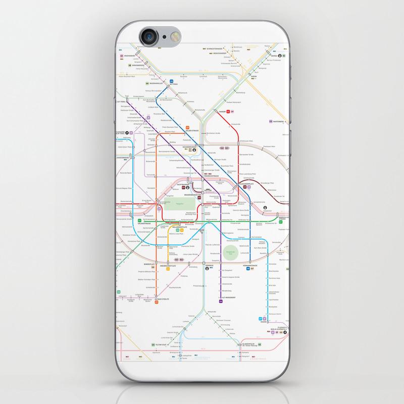 Germany Berlin Metro Bus U Bahn S Bahn Map Iphone Skin By - Berlin-us-bahn-map