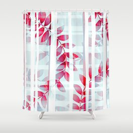 Abstract Foliage Pattern Shower Curtain