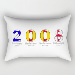 2008 - NAVY - My Year of Birth Rectangular Pillow