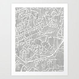 chapel hill city print Art Print