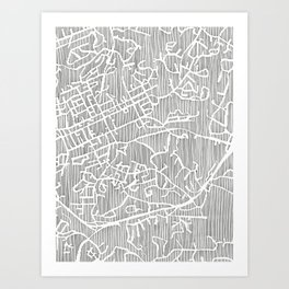 chapel hill city print Art Print