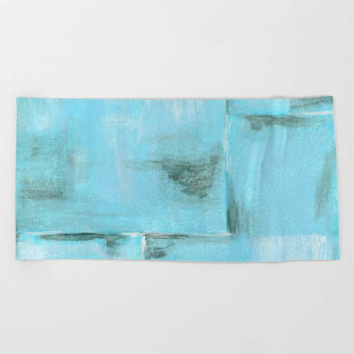Frost, Abstract Art Painting Beach Towel